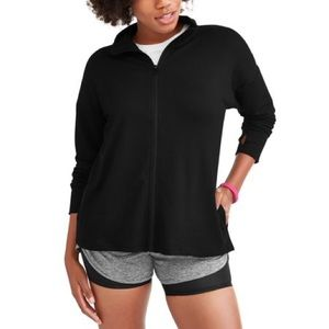 Black Athletic Works Full ZIP French Terry Jacket